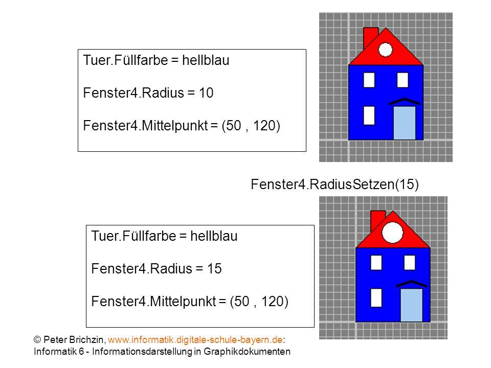 Tuer.Füllfarbe = hellblau Fenster4.Radius = 10