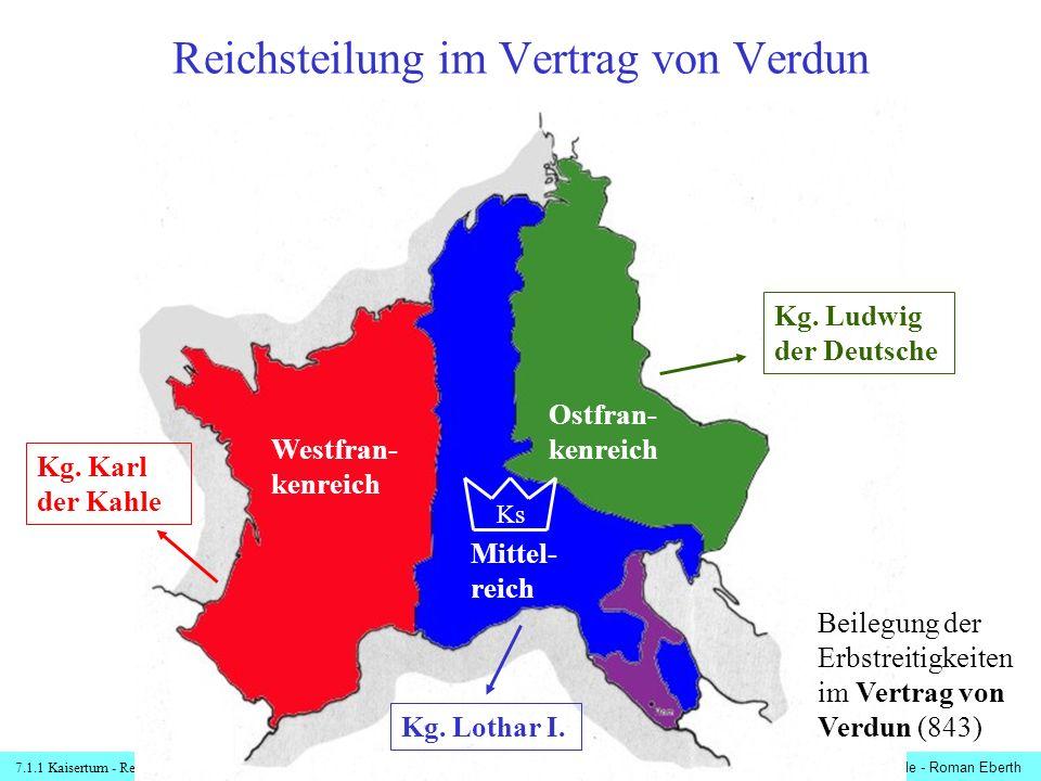 Reichsteilung im Vertrag von Verdun