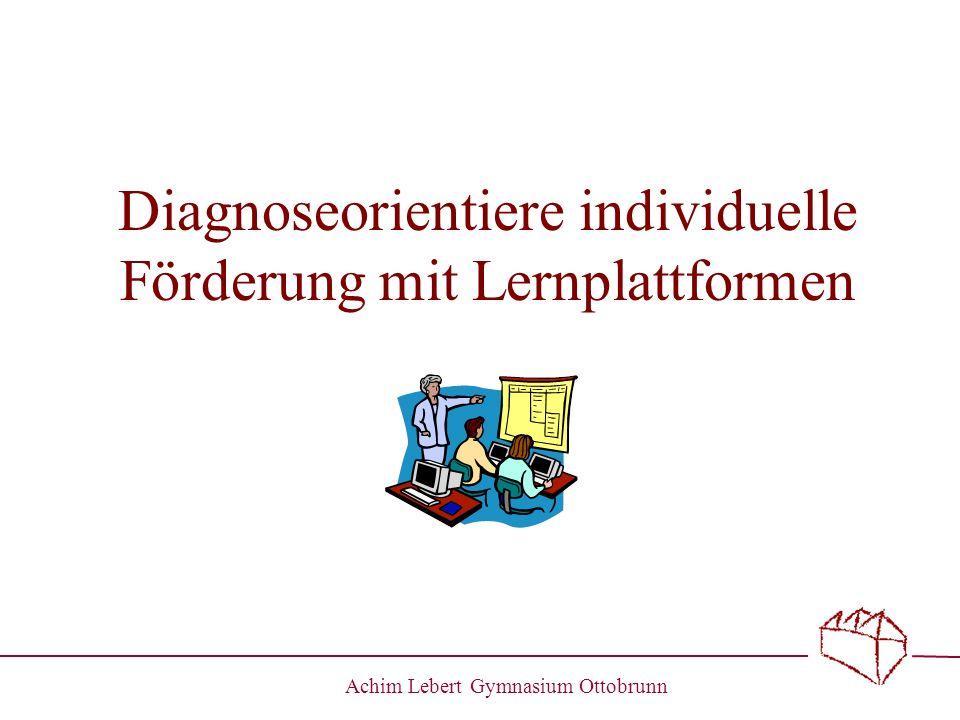 Diagnoseorientiere individuelle Förderung mit Lernplattformen