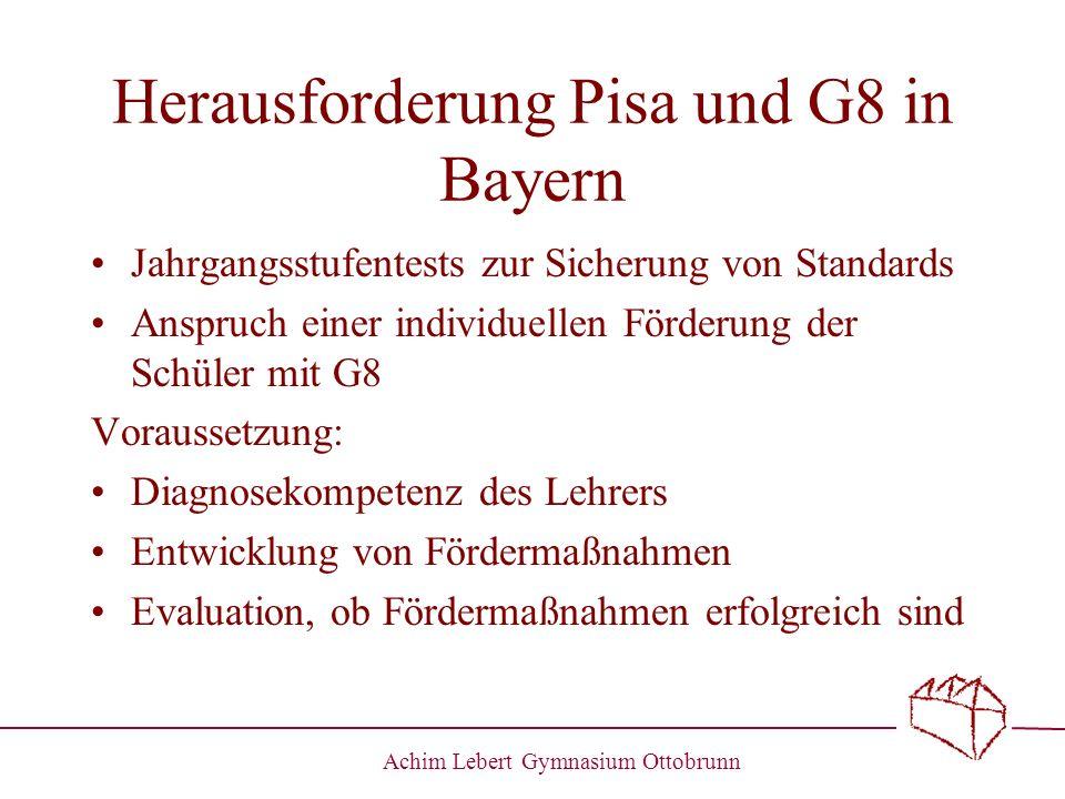 Herausforderung Pisa und G8 in Bayern