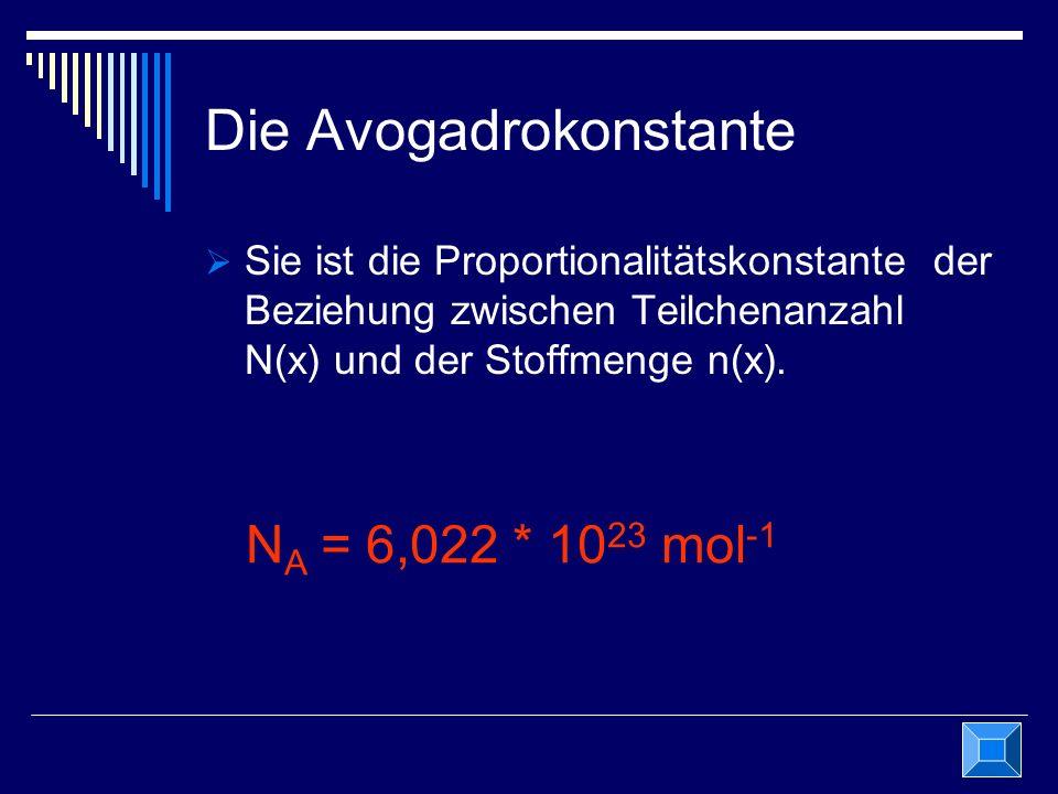 Die Avogadrokonstante