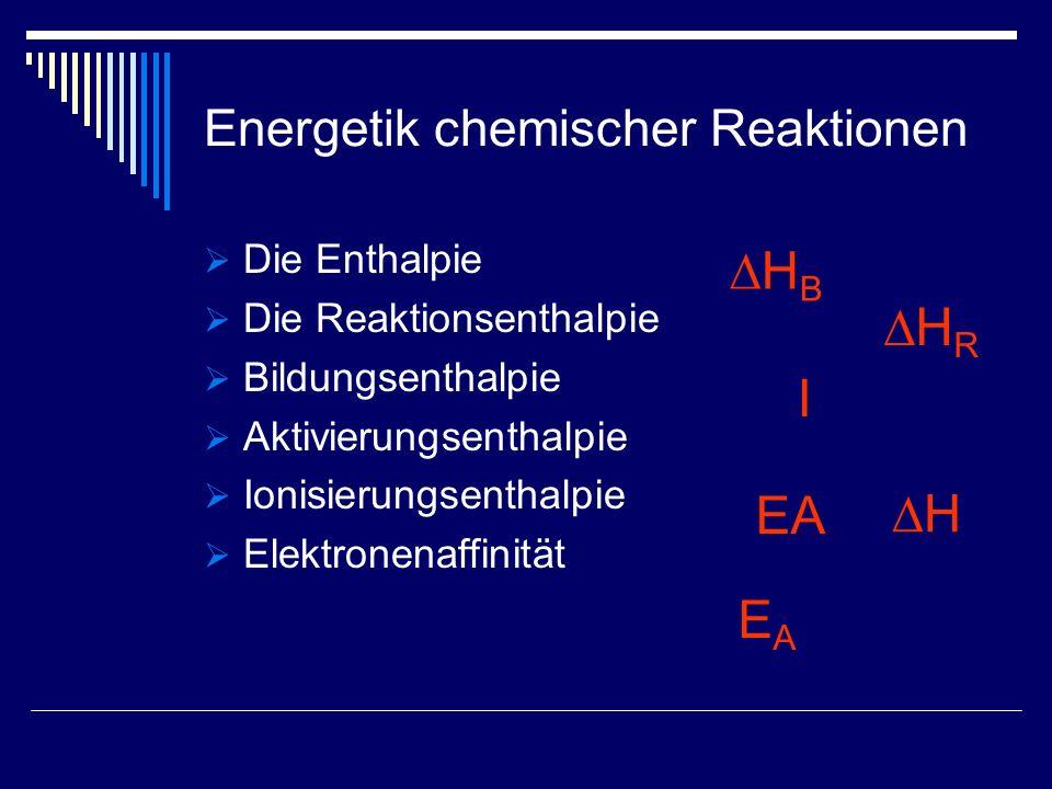 Energetik chemischer Reaktionen