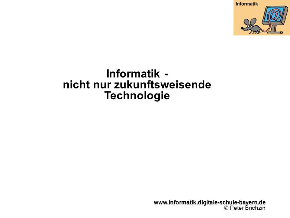 Informatik - nicht nur zukunftsweisende Technologie