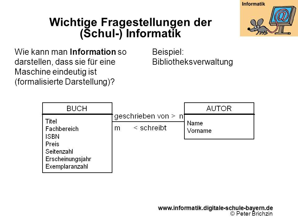 Wichtige Fragestellungen der (Schul-) Informatik
