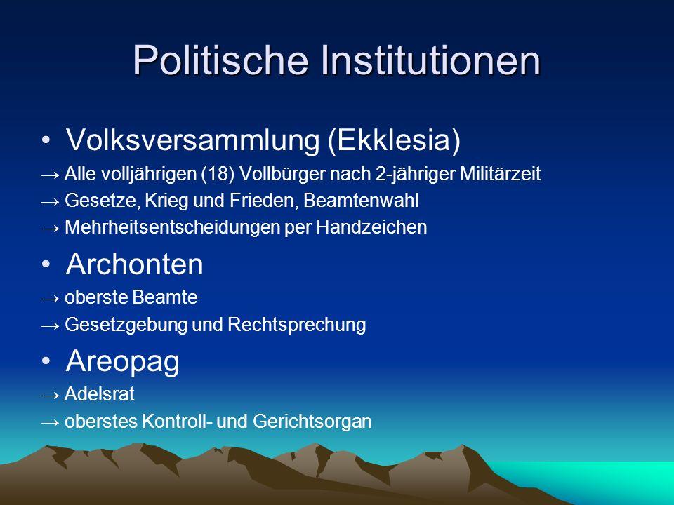 Politische Institutionen