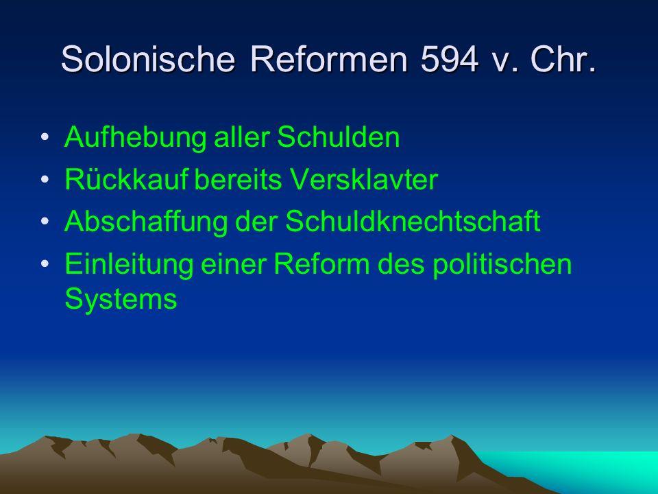 Solonische Reformen 594 v. Chr.