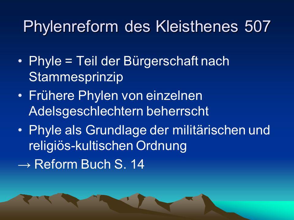 Phylenreform des Kleisthenes 507