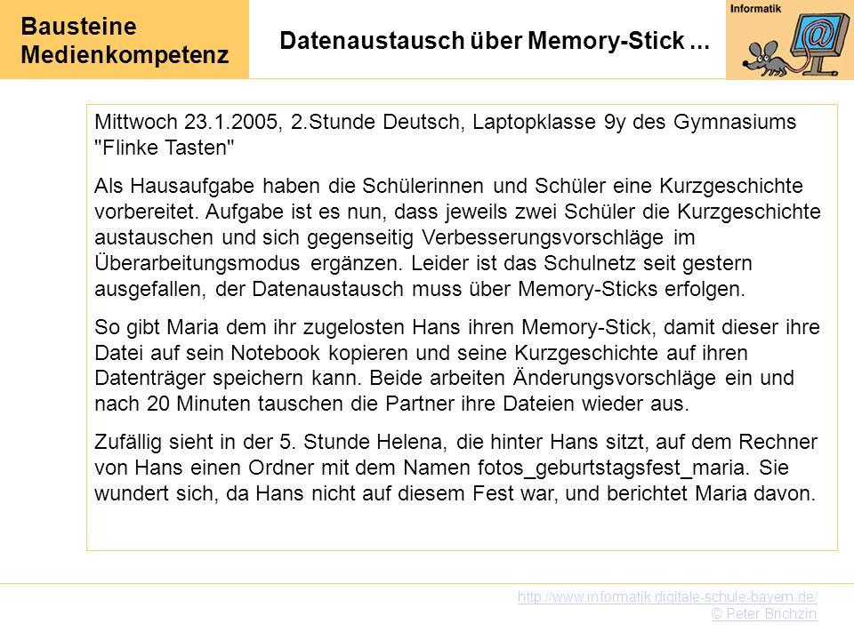 Datenaustausch über Memory-Stick ...