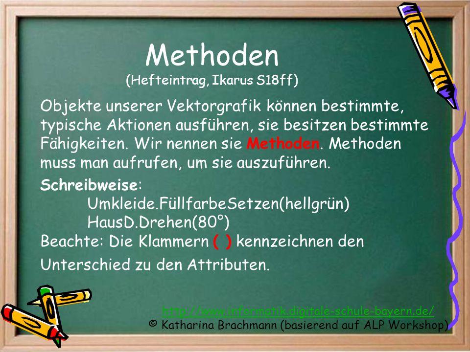 Methoden (Hefteintrag, Ikarus S18ff)