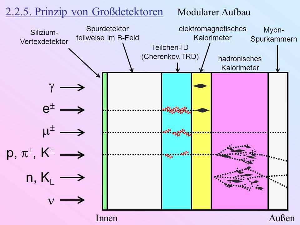 2.2.5. Prinzip von Großdetektoren Modularer Aufbau