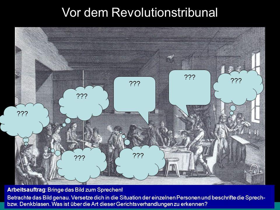 Vor dem Revolutionstribunal
