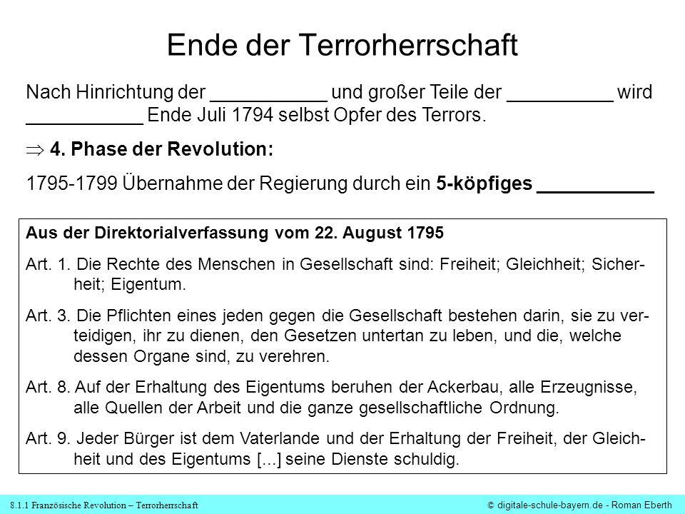 Ende der Terrorherrschaft