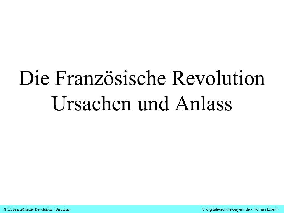 Die Französische Revolution Ursachen und Anlass