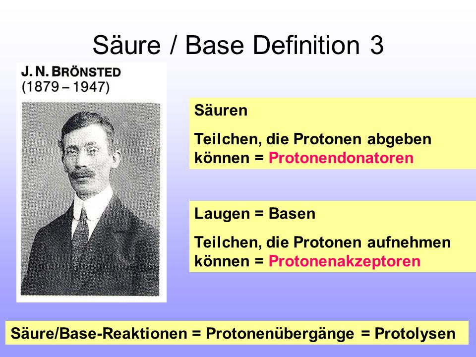 Säure / Base Definition 3