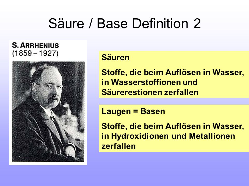 Säure / Base Definition 2