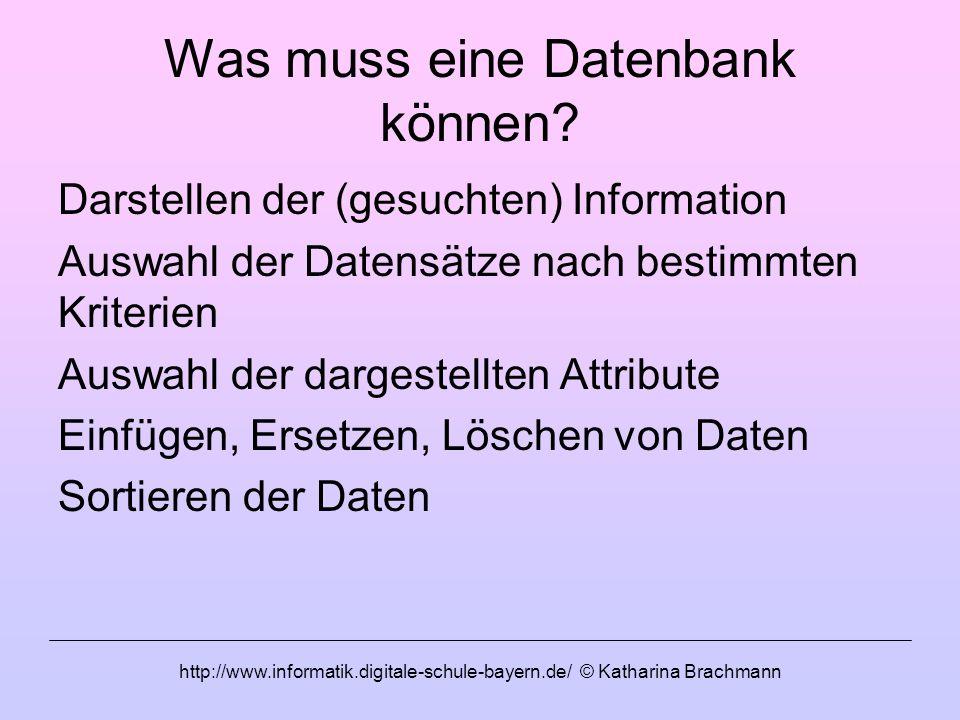 Was muss eine Datenbank können