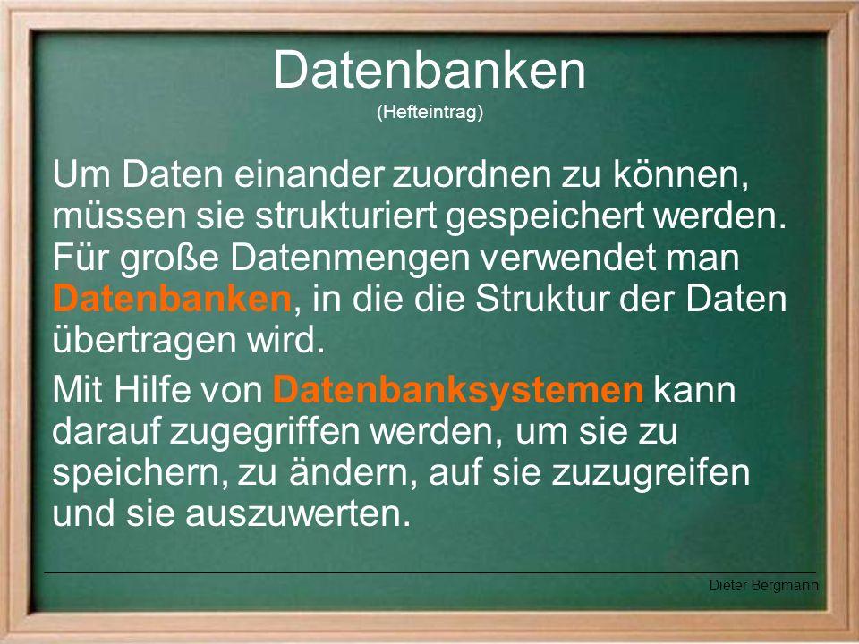 Datenbanken (Hefteintrag)