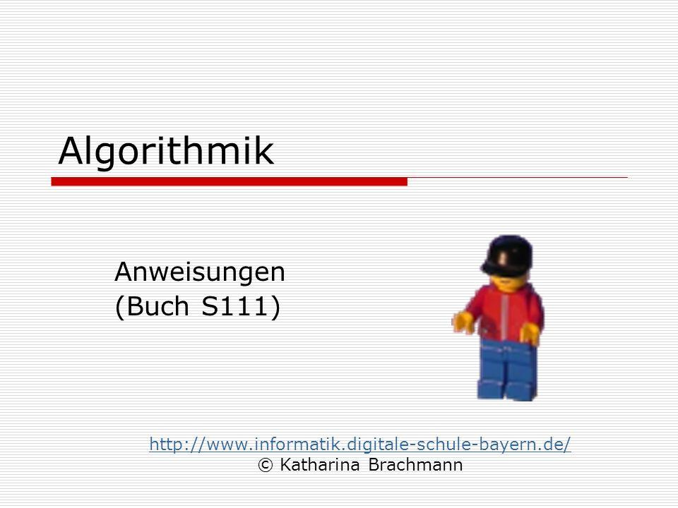 Algorithmik Anweisungen (Buch S111)