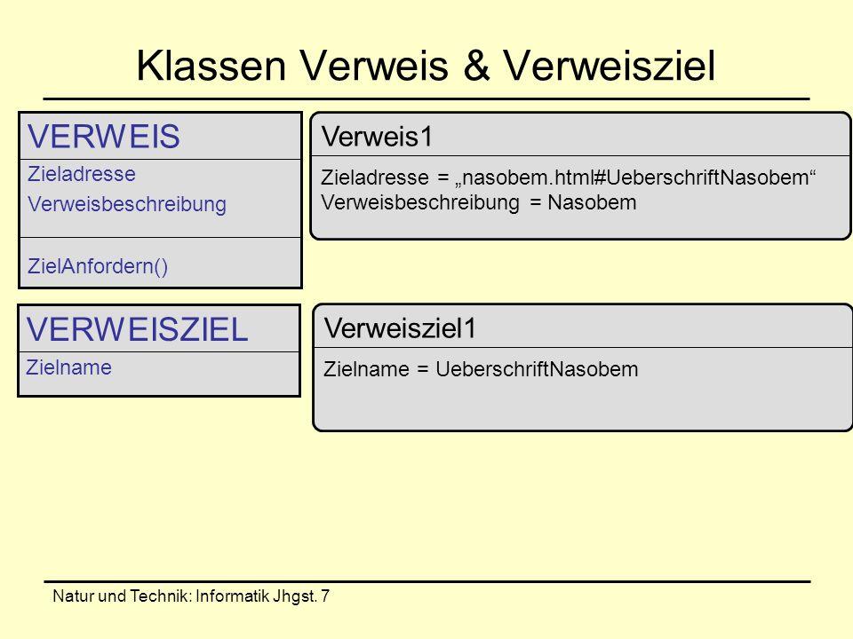 Klassen Verweis & Verweisziel