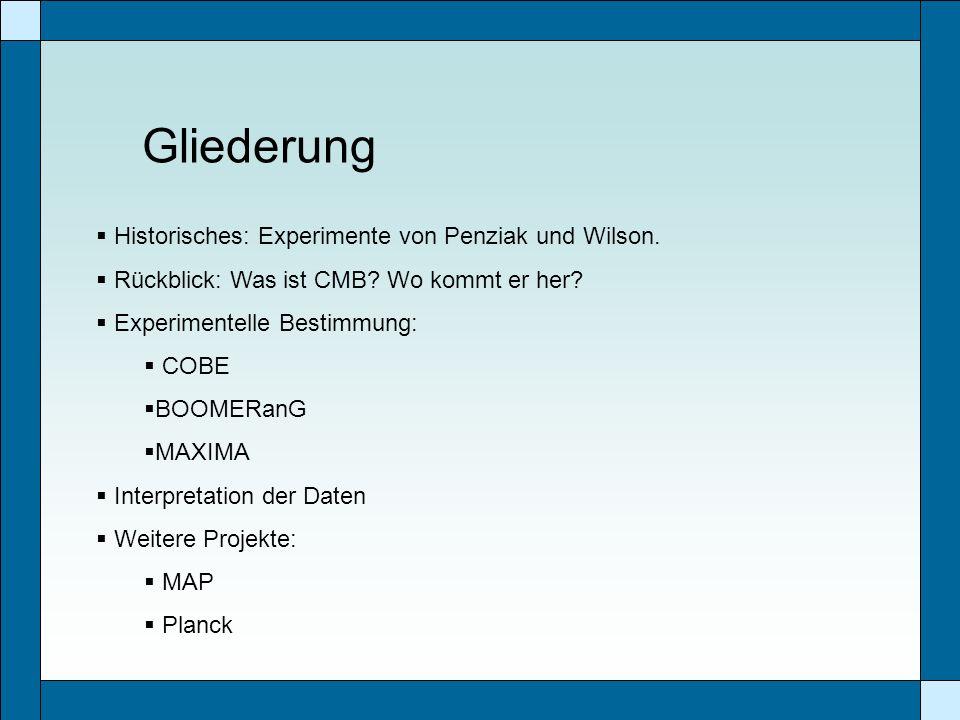 Gliederung Historisches: Experimente von Penziak und Wilson.