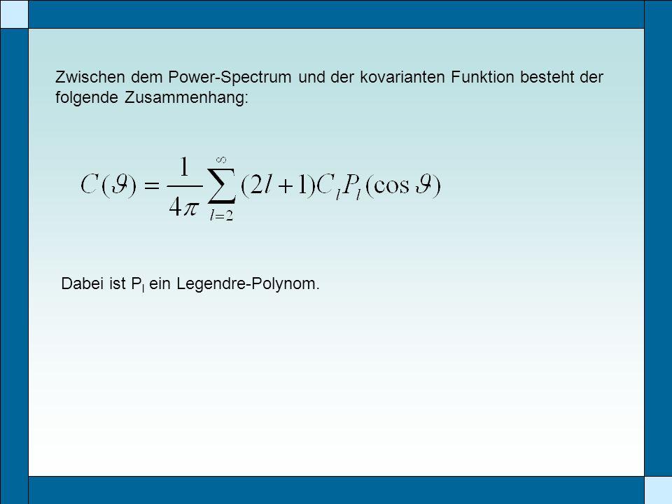 Zwischen dem Power-Spectrum und der kovarianten Funktion besteht der folgende Zusammenhang: