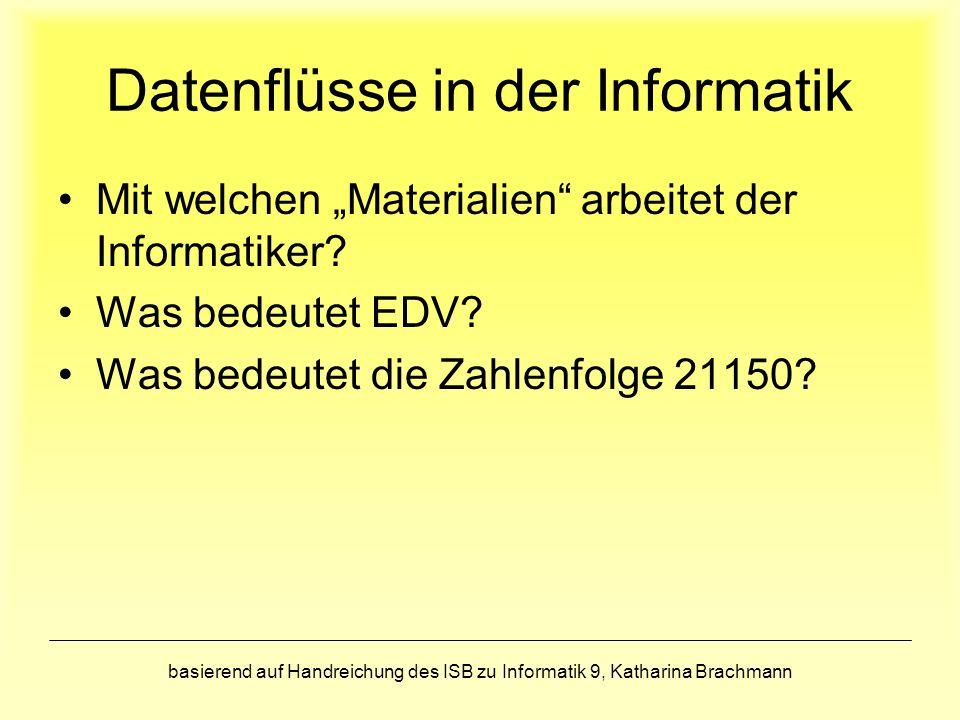 Datenflüsse in der Informatik