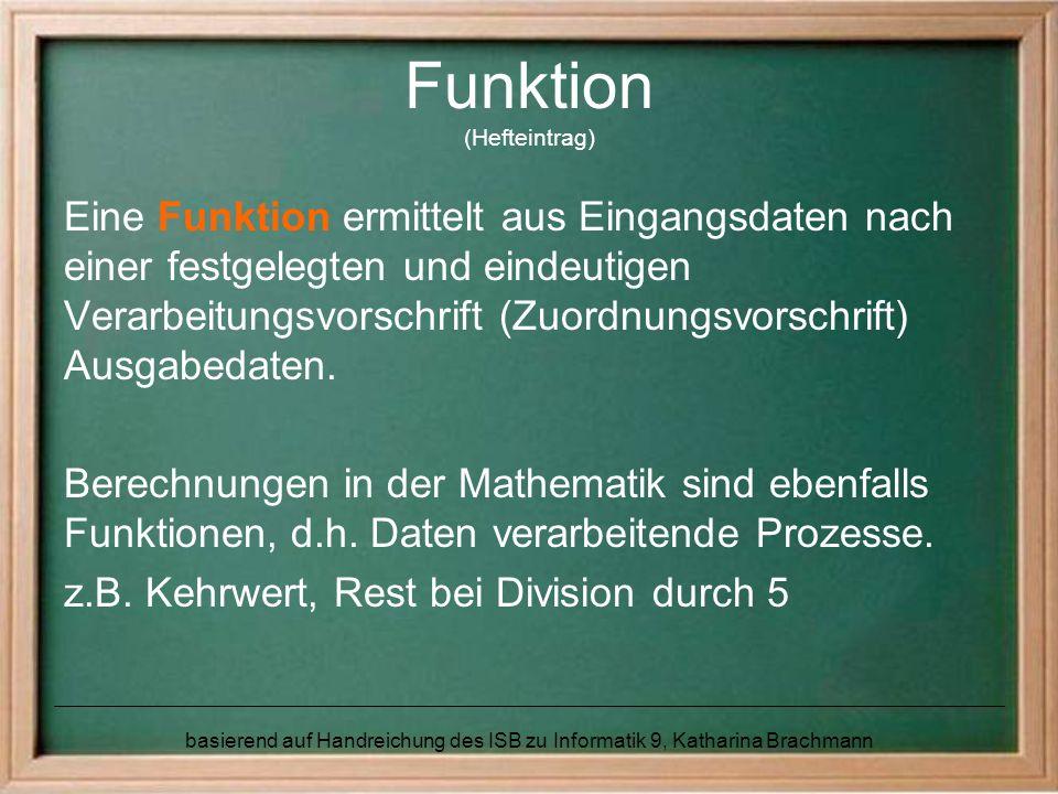 Funktion (Hefteintrag)