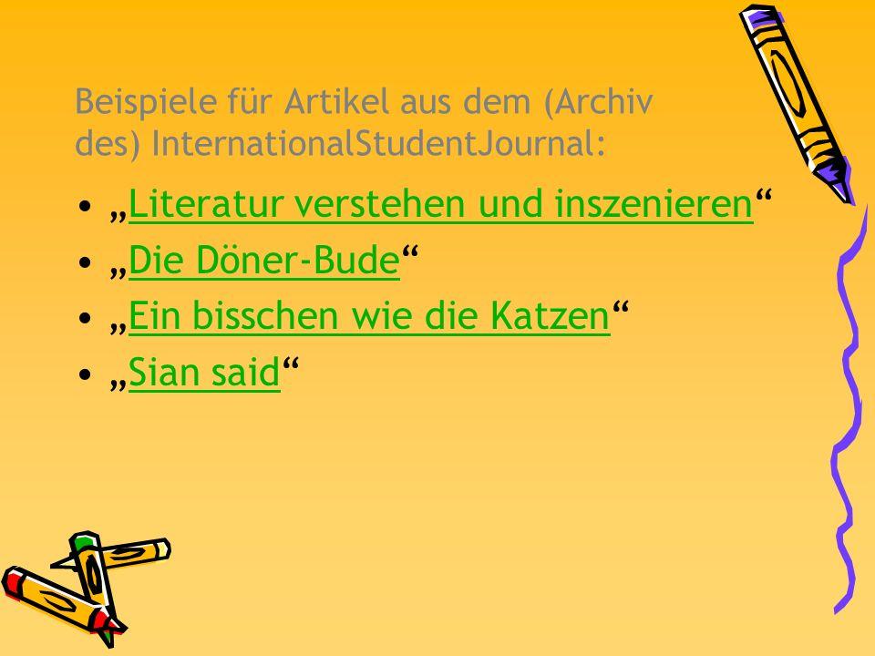 """""""Literatur verstehen und inszenieren """"Die Döner-Bude"""