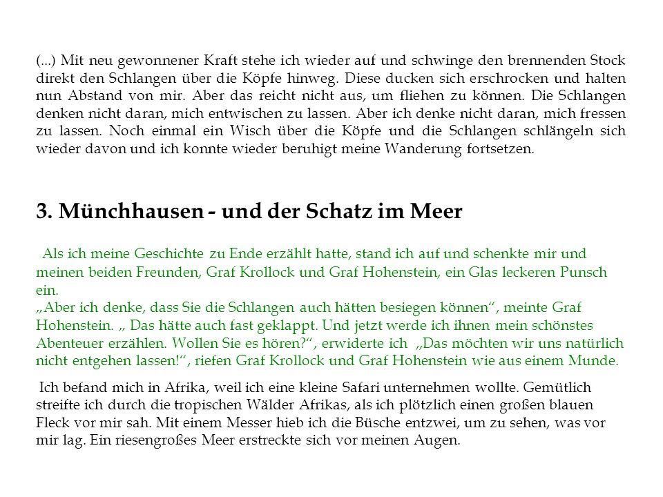 3. Münchhausen - und der Schatz im Meer