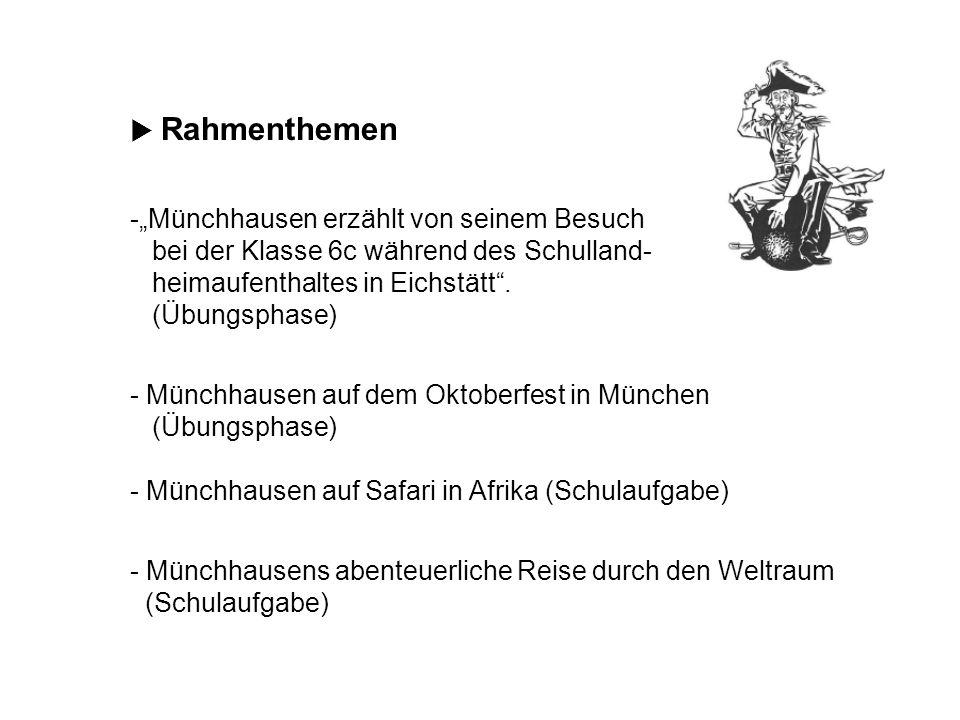 Münchhausens abenteuerliche Reise durch den Weltraum (Schulaufgabe)