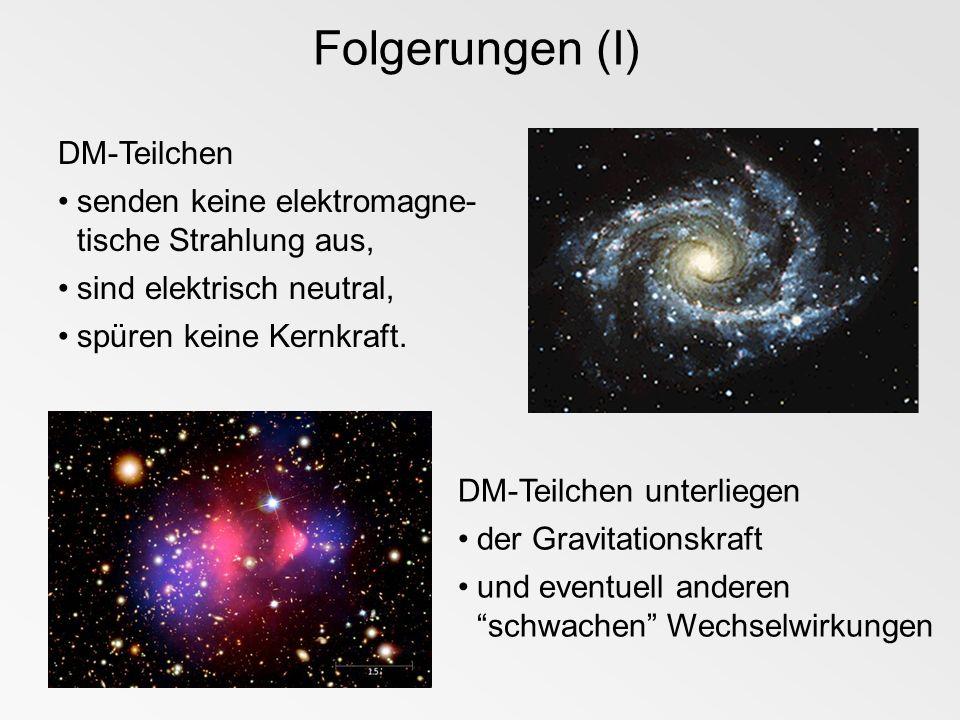 Folgerungen (I) DM-Teilchen
