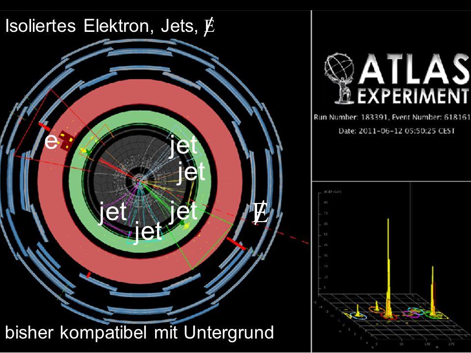 e jet jet jet jet jet Isoliertes Elektron, Jets, E