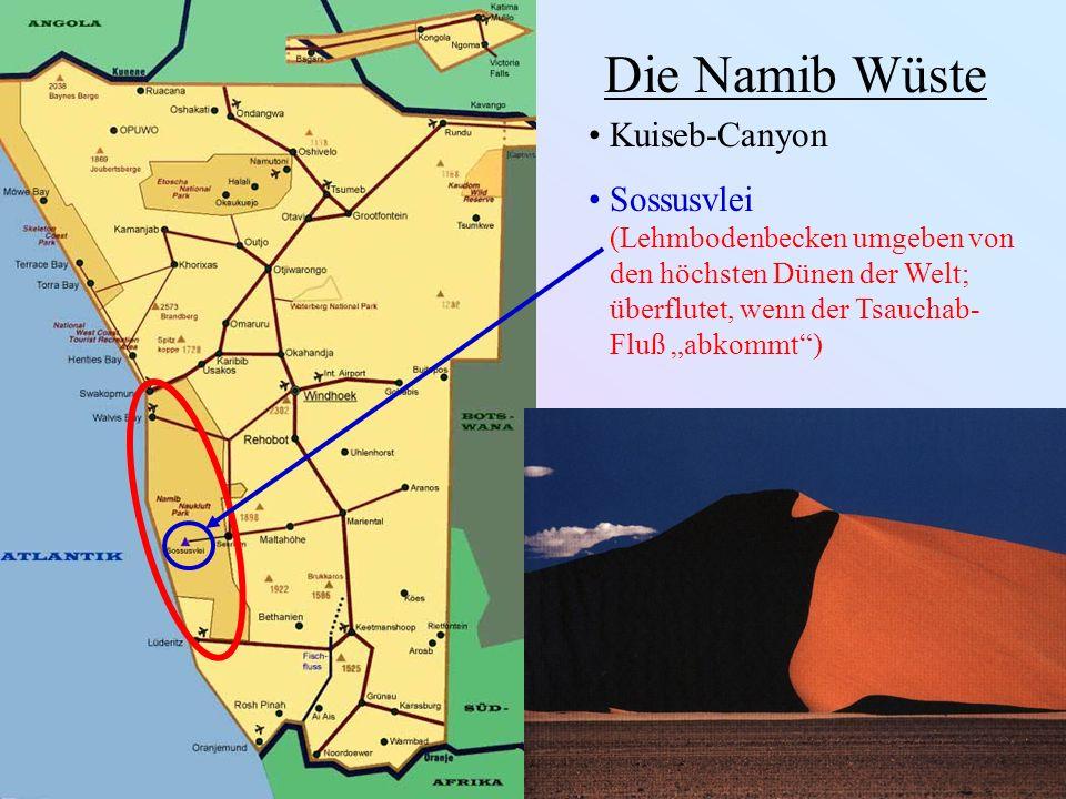 Die Namib Wüste Kuiseb-Canyon Sossusvlei