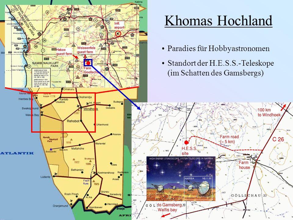 Khomas Hochland Paradies für Hobbyastronomen