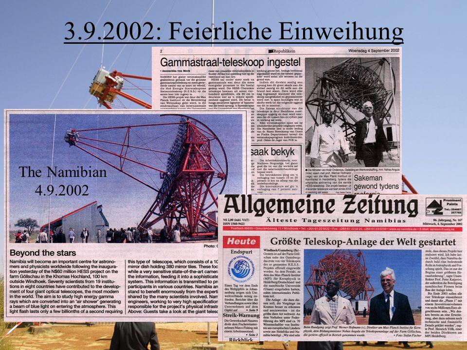 3.9.2002: Feierliche Einweihung