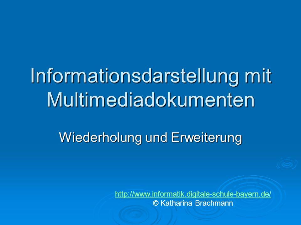 Informationsdarstellung mit Multimediadokumenten