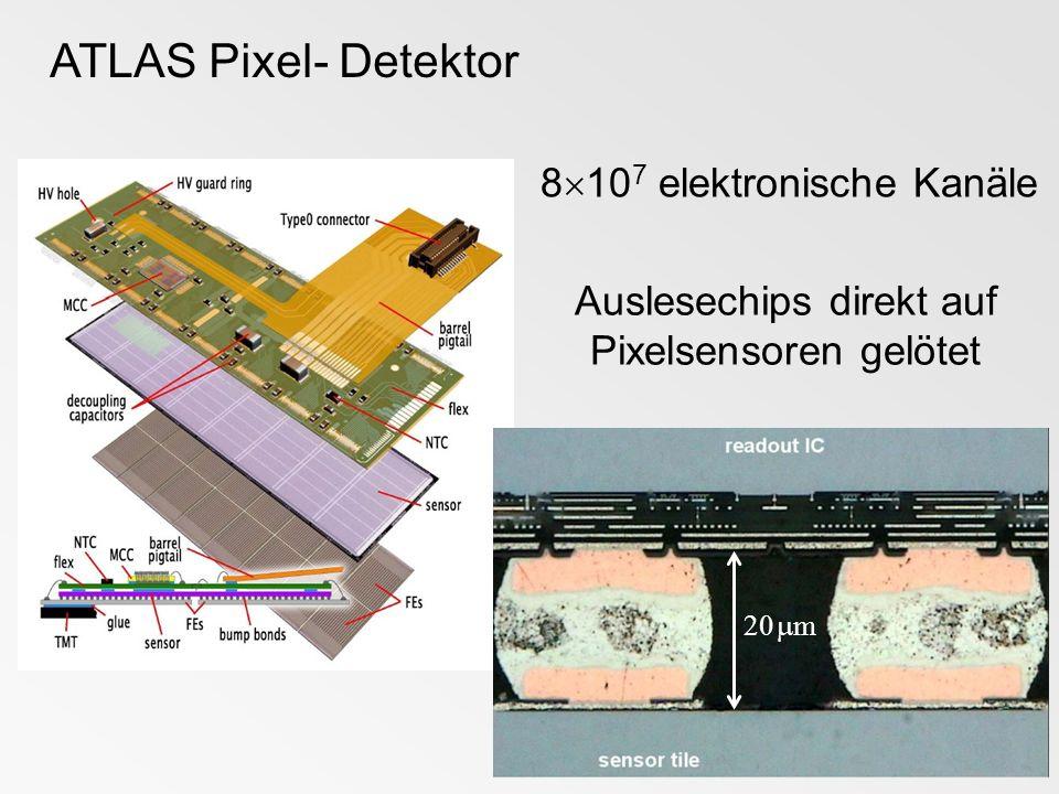 Auslesechips direkt auf Pixelsensoren gelötet