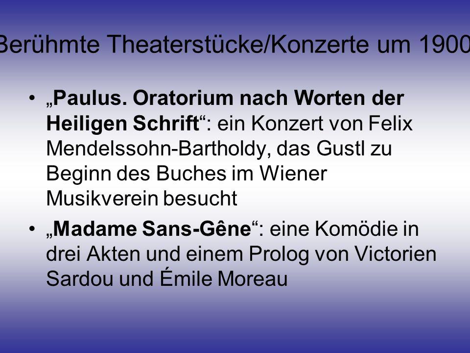 Berühmte Theaterstücke/Konzerte um 1900