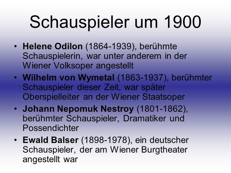 Schauspieler um 1900 Helene Odilon (1864-1939), berühmte Schauspielerin, war unter anderem in der Wiener Volksoper angestellt.