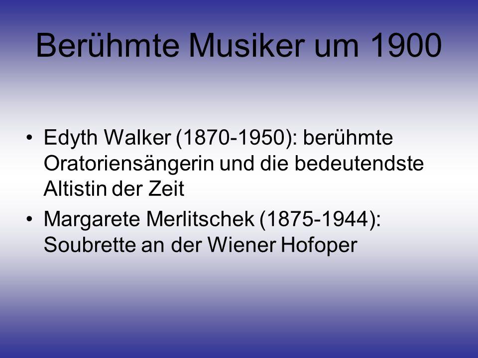 Berühmte Musiker um 1900 Edyth Walker (1870-1950): berühmte Oratoriensängerin und die bedeutendste Altistin der Zeit.