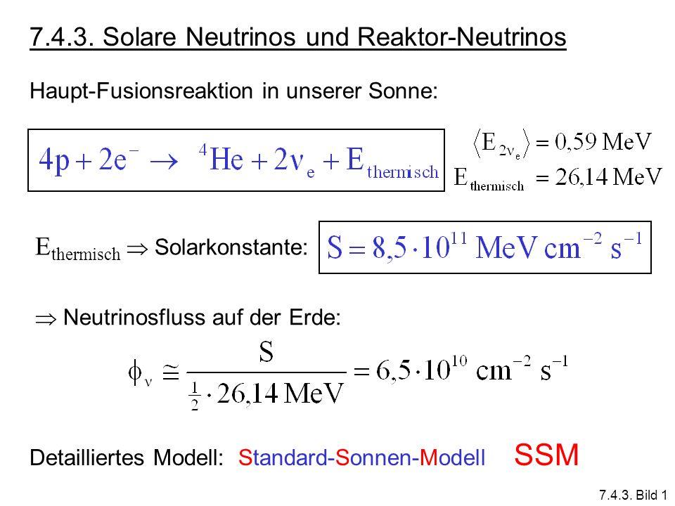 7.4.3. Solare Neutrinos und Reaktor-Neutrinos