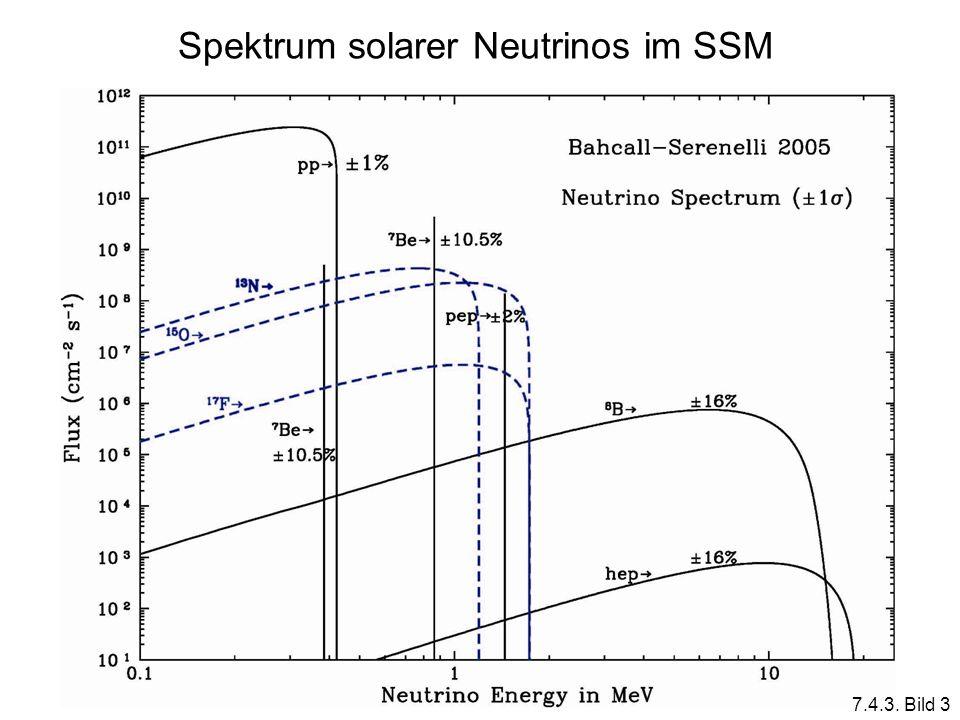 Spektrum solarer Neutrinos im SSM
