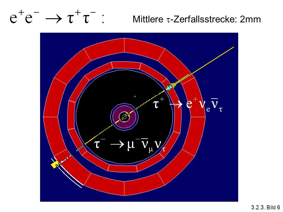 Mittlere -Zerfallsstrecke: 2mm