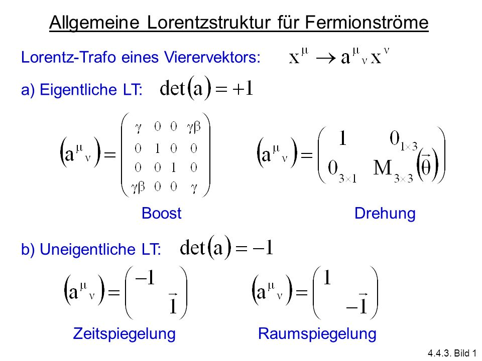 Allgemeine Lorentzstruktur für Fermionströme