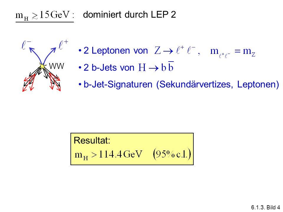 b-Jet-Signaturen (Sekundärvertizes, Leptonen)