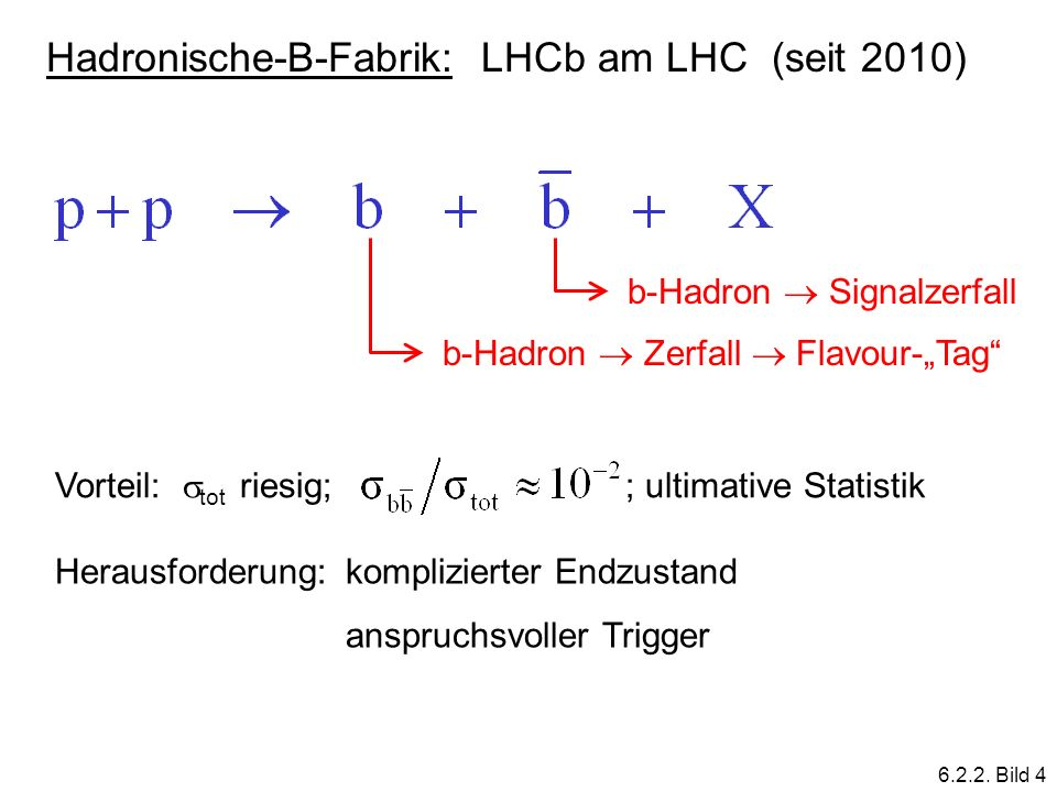 Hadronische-B-Fabrik: LHCb am LHC (seit 2010)