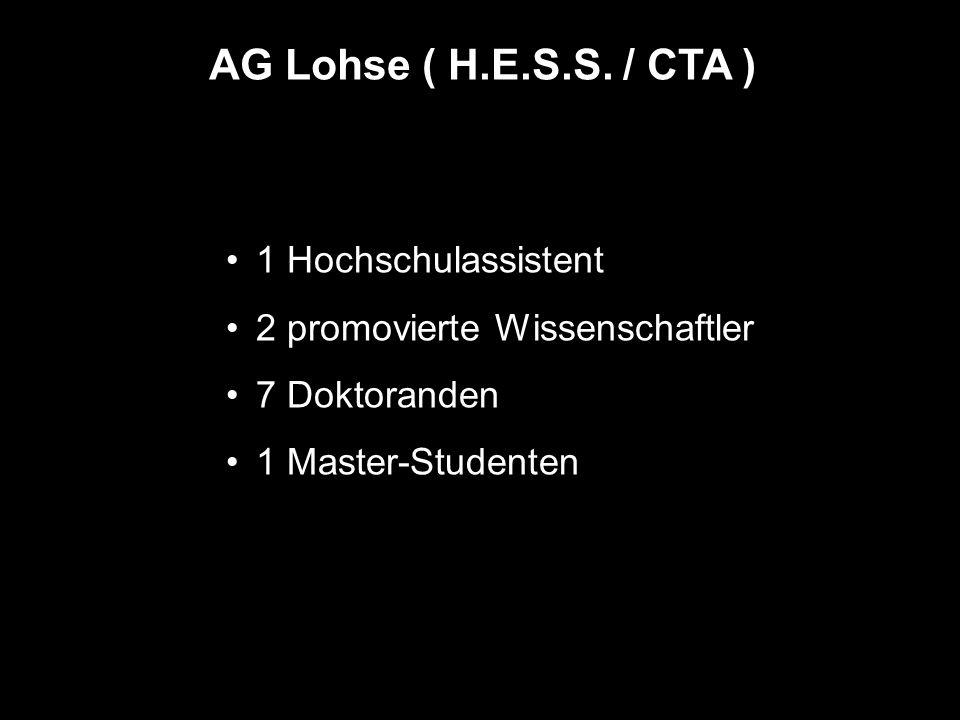 AG Lohse ( H.E.S.S. / CTA ) 1 Hochschulassistent