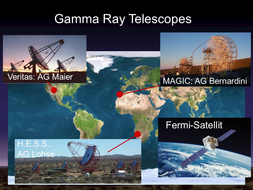 Gamma Ray Telescopes Fermi-Satellit Veritas: AG Maier