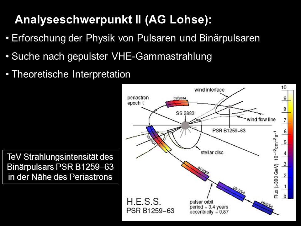 Analyseschwerpunkt II (AG Lohse):