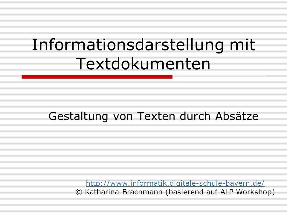 Informationsdarstellung mit Textdokumenten